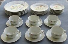30 Pc Complete Set for SIX Louis Lourioux Le Faune Wildflower Dinnerware France