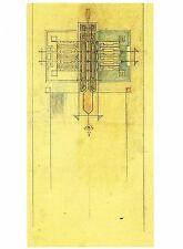 Postcard Frank Lloyd Wright Rug Early Rug Design Pattern (Detail) 1906 Mint