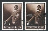 DR Nazi 3rd Reich Rare WW2 Stamp Gest Set Hitler Speech Uniform Fuhrer Birthday