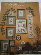Vtg 1983 Wild Flowers Cross Stitch Pattern Book Sampler & Bellpull Leaflet 7 NEW