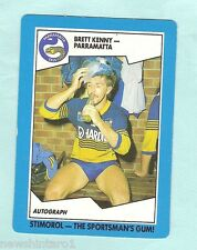 1989 PARRAMATTA EELS  STIMOROL RUGBY LEAGUE CARD  #102  BRETT KENNY