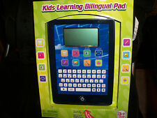 NEW Blue LEARNING BILINGUAL PAD TABLET KIDS 3+ ENGLISH SPANISH 35 ACTIVITIES NIB