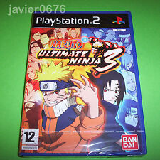 NARUTO ULTIMATE NINJA 3 NUEVO PRECINTADO PAL ESPAÑA PLAYSTATION 2 PS2