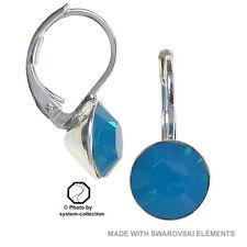 Pendientes Con Elementos Swarovski, color: Caribe ópalo, Azul