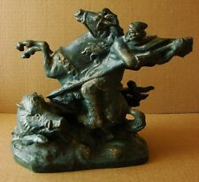 Russian Ukrainian Soviet sculpture statue knight rider heroic epic ballade