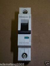 NEW Klockner Moeller FAZ-C4-NA Din Rail 1 pole Circuit Breaker