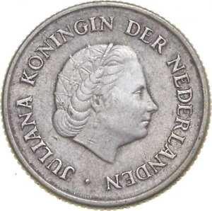Better - 1967 Netherlands Antilles 1/4 Gulden - TC *982