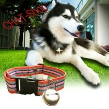 Dog collars for medium to large dogs  with a bell, mixed color.