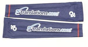 Champion System Small Team Blue Ribbon Translations.com Fleece Arm Warmers Blue