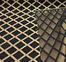 Chenille Damask Print Black Gold Diamond Upholstery sofa Fabric By The Yard