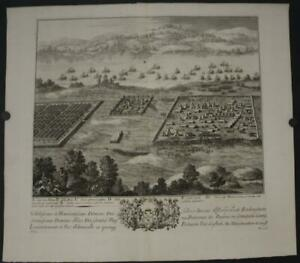 BATTLE OF NILE EGYPT 1710 DANIEL STOPENDAAL ANTIQUE ORIGINAL COOPER ENGRAVED MAP