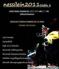 Diablo 3 RoS Ps4/Xbox One - SCHWARZER - Zauberer - 150 Portale 100% Unsterblich
