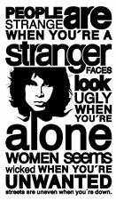 """Framed Print - The Doors """"People are Strange"""" (Picture Poster Music Word Art)"""