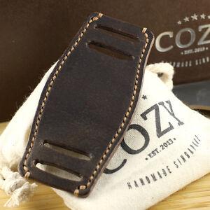 Handmade Italian Veg Tanned Vintage 406 Leather Bund Pad for watch straps