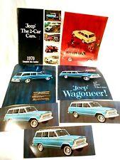 Vintage 1970 Jeep Wagoneer Advertising Brochures & Post Cards