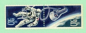 USA 2 stamps , SC 1332a, Accomplishments in Space 1967,  used