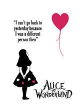 Alice in Wonderland Balloon Typography Decorative Vinyl Wall Sticker