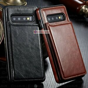 Leather Luxury Wallet Magnet Flip Cover Thin Slim Case For Samsung Galaxy S10e