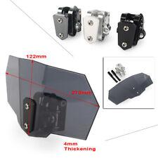 Adjustable Clip On Windshield Extension Spoiler Wind Deflector Universal Black