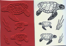 unmounted rubber stamps Turtles and Sea Grass collection  5 images
