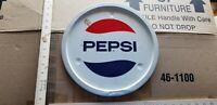 VINTAGE round Pepsi serving tray METAL SIGN