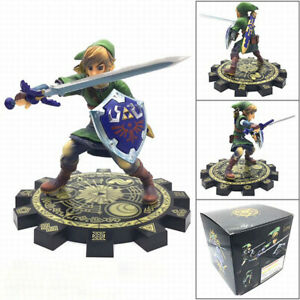 The Legend of Zelda Skyward Sword 1/7 Link Action Figure Statues Gift 8'' W/Box