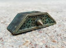1650's Antique Indo Persian Scarce Beautiful Brass Ink Soaking Tool, Rich Patina