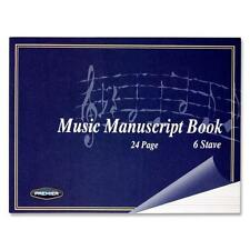 A5 24 Page Music Manuscript Sheet Notebook Blank 6 Stave Notation Paper-35415