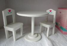 Corolle Doll Furniture Table et chaises en bois Wood Table and Chairs never play