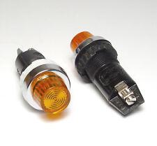 2x Rafi Schalttafel Einbau-Leuchte 1.60506, 25 mm, f. E10/2W Lampe, orange