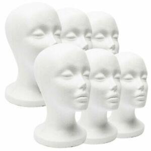 Dummy Wig Glasses Hat Rack Wide Head Model Display Stand Foam Mannequin Female