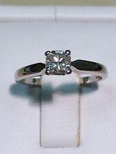 18ct White Gold Solitaire Diamond 0.36 carat RADIANT CUT Engagement Ring RARE