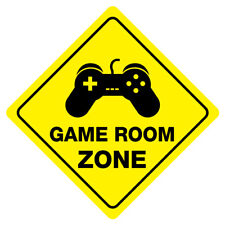 GAME ROOM ZONE Funny Novelty Crossing Sign