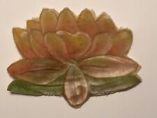 Antique Velvet & Felt Water Lily Pen Wipe - Early Victorian Writing Collectible!