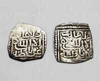 NAZARI NASRID GRANADA ALHAMBRA GHARNATA lote 2 dirham moneda de plata MUY RARO