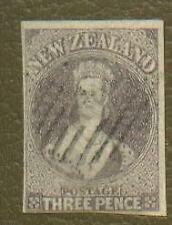 New Zealand  Scott 13, SG 40 3d Chalon Imperf