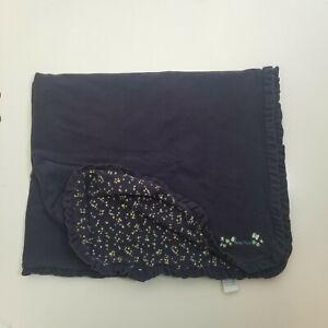 Vintage 2000 Gymboree Bebe Fleur navy floral reversible baby blanket