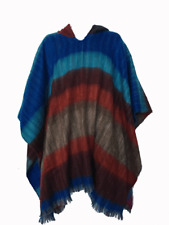 WHOLESALE LOT OF 10 SOFT & BEAUTIFUL RAINBOW ALPACA HOODED PONCHOS