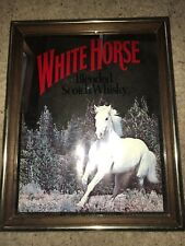 Vtg White Horse Distilleries Blended Scotch Whisky Mirror Advertising Sign