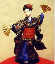 1:12 scale Miniature Doll Art Tutorials/Patterns~Clothes/Hair+  GEISHA