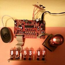 Nixie Clock Kit w/Dekatron Ckt - 9VAC in - PCB w/ Parts (uC version - No Tubes)