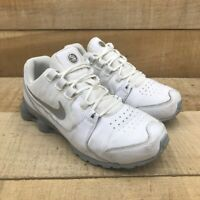Nike Unisex Kids Shox Avenue PS Running Shoes White 848113-100 Lace Up 3 Y