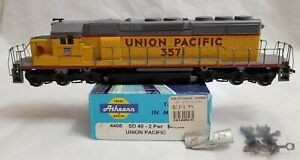 ATHEARN BLUE BOX #4408 HO UNION PACIFIC SD40-2 #3571 POWERED with ORIG. BOX