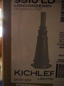 "Kichler 9510 Londonderry 72"" Cast Aluminum Post With Concrete Hardware"