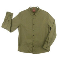 Red Ale By Alesbury Shirt Mens XL Slim Fit Long Sleeve Button Front Olive Green