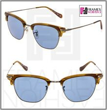 8d4305d3e0 Oliver Peoples bancos de Sol OV1145S vintage Oro Azul Cobalto Gafas de sol  1145 Unisex