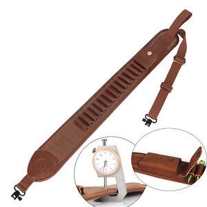 Tourbon Rifle Sling Swivels Set Gun Strap .308.30-06,45-70 Bullets w/Side Pocket