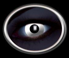 ZOE UV WHITE lentille de couleur blanche lens contact halloween glow vampire