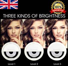 USB Selfie LED Light Ring Flash Fill Clip UK For Phone & Tablet iPhone