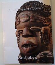 Sotheby's Paris 16 juin, 2010 - Arts d'Afrique et d'Oceanie